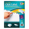 Index Maker Clear Label Dividers, 3-Tab, Letter, White, 5 Sets