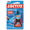 Liquid Super Glue, Clear, 0.14oz, 1/ea