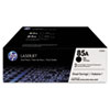 CE285D (HP 85A) Toner Cartridge, 1,600 Page-Yield, Black,2/Pk