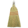 "Whisk Broom, Corn Fiber Bristles, 10"" Wood Handle, Yellow"