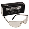 500 Series Safety Eyewear, Silver Frame, Clear Lens