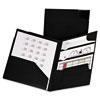 Oxford Divide It Up Four-Pocket Poly Folder, 11 x 8-1/2, Black
