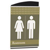 Interior Image Sign Holder, Portrait, 7 5/8 x 10 3/8 Insert, Black/Silver