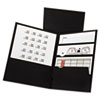 Divide It Up Four-Pocket Paper Folders, 11 x 8-1/2, Black, 20/Box