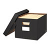 Stor/File Decorative Storage Box, Letter/Legal, Black/Gray, 4/Carton