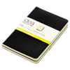 Idea Collective Softcover Journal, Side Binding, 5-1/2 x 3-1/2, Black, 2/Pack