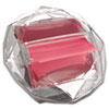 Pop-Up Notes Diamond Dispenser, 3 x 3 Pad, Clear