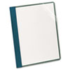 Recycled Clear Front Report Covers, Letter Size, Blue, 25/Box