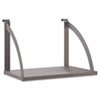 Verse Panel System Hanging Shelf, 24w x 12-3/4d, Gray