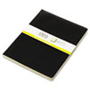 Idea Collective Softcover Journal, Side Binding, 10 x 7-1/2, Black, 2/Pack