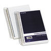 Wirebound Five-Subject Notebook, 9-1/2 x 6, Navy, 175 Sheets/Pad