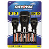Rayovac Value Bright LED Flashlights, Black, 3 per pack