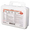 Impact Bloodborne Pathogen Cleanup Kit, OSHA Compliant, Plastic Case