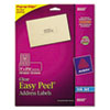 Avery Easy Peel Inkjet Mailing Labels, 1 x 2-5/8, Clear, 750/Pack