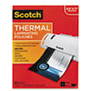 Letter size thermal laminating pouches, 3 mil, 11 1/2 x 9, 50/pack