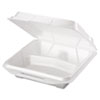 Genpak Foam Food Containers, 3-Comp, 9 1/4 x 9 1/4 x 3, White, 100/Bag, 2 Bags/Carton