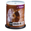 imation DVD-R Discs, 4.7GB, 16x, Spindle, Silver, 100/Pack