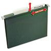 Slide & Lift Tab Hanging Folders, Letter, 1/3 Cut, Green, 24/Pack