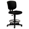 Volt Series Adjustable Task Stool, Black Fabric