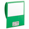Textured Stackit Folders, Letter Size, Green, 10/Pack