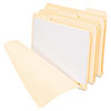 "Top Tab File Folder, 3-Hole Fasteners, 3/4"" Exp, Letter, Manila, 50/BX"