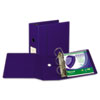 "Clean Touch Antimicrobial Locking D-Ring Binder, 11 x 8-1/2, 5"" Cap, Dark Blue"