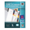 Avery Ready Index Table/Contents Dividers, 10-Tab, Letter, Assorted, 10/Set