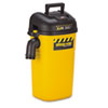 Wall Mount Vac, 5-Gallon Capacity, 17 lbs, Yellow/Black