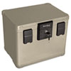 Fire and Waterproof Chest, 16w x 12-1/2d x 13h, Taupe