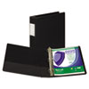 "Clean Touch Antimicrobial Locking D-Ring Binder, 11 x 8-1/2, 1-1/2"" Cap, Black"