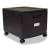 Single-Drawer Mobile Filing Cabinet, 14-3/4w x 18-1/4d x 12-3/4h, Black