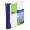 "Comfort Touch Durable View Binder w/Slant Rings, 1"" Capacity, White"