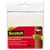 Scotch Box Corner Reinforcement Squares, 4 x 4, Clear, 24/Pk