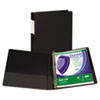 "Clean Touch Antimicrobial Locking D-Ring Binder, 11 x 8-1/2, 1"" Capacity, Black"