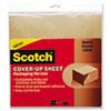 Scotch Cover-Up Sheet, 12 x 12, Brown, 6/Pk