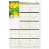 Floral Erasable Wall Planner, 24 x 36, 2013