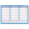 Recycled 90/120-Day Undated Horizontal Erasable Wall Palnner, 36&quot; x 24