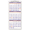 Recycled Three-Month Reference Wall Calendar, 12&quot; x 27&quot;, 2012-2014