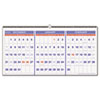 Recycled Three-Month Reference Wall Calendar, 23 1/2&quot; x 12&quot;, 2012-2014
