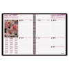 "Recycled Floral Weekly/Monthly Planner, Burgundy, 8 1/4"" x 10 7/8"", 2013"