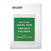 Recycled Project Folder, Jacket, Legal, Poly, Clear, 25 per Box