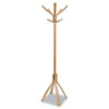 Cafe Wood Coat Stand, Five Pegs/Five Hooks, Natural