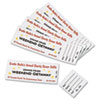 Tickets with Tear-Away Stubs, 1 3/4 x 5 1/2, Matte White, 200 Tickets
