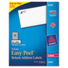 Easy Peel Laser Address Labels, 2/3 x 1-3/4, White, 1500/Pack