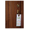 Door Hanger with Tear-Away Cards, 4 1/4 x 11, Matte White, 80 Doorhangers