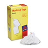 Avery White Marking Tags, Paper, 2 3/4 x 1 11/16, White, 1,000/Box