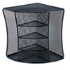 Universal One Mesh Desktop Corner Organizer, Six Compartments, Black