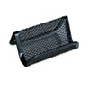 Mesh Metal Business Card Holder, 50 2 1/4 x 4 cards, Black