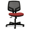 Volt Series Mesh Back Task Chair with Synchro-Tilt, Crimson Fabric