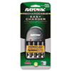 Rayovac Four-Position Battery Charger, Includes Four Precharged Batteries